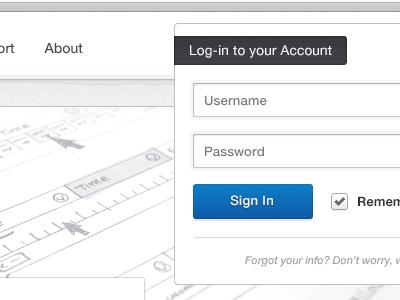Another sneak peek ... shod4n sneak peek preview interface light ui webdesign web clean white login account