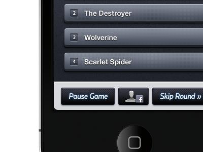 iPhone Trivia App (Game) #3 iphone app trivia game ui interface gui