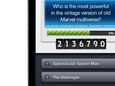 iPhone Trivia App (Game) #4 iphone app trivia game ui interface gui
