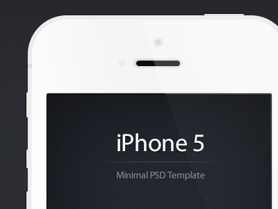 Minimal iPhone 5 PSD - Free Template (Updated) giveaway mockup iphone5 download minimal flat iphone 5 white resource psd free freebie template ios iphone