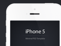Minimal iPhone 5 PSD - Free Template (Updated)