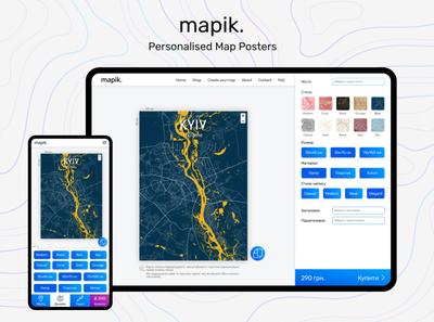 Mapik. mobile design admin design dashboad website ui design product design