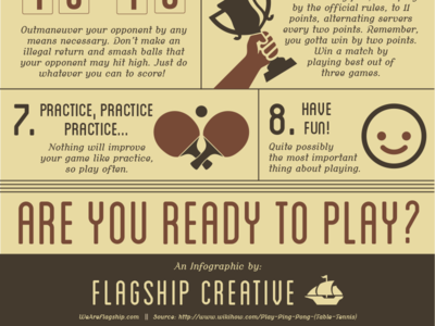 How to Play Ping Pong Infographic ping pong sports infographics information design illustrator graphic design
