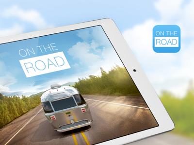 On the Road App ui ux user interface design apps digital design