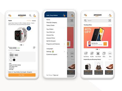 Amazon Redesign amazon ios redesign ui ux logo typography illustration