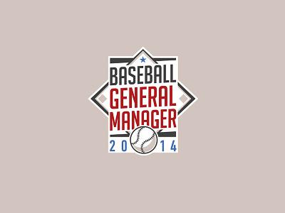 Baseball General Manager Logo star logo ball manager baseball