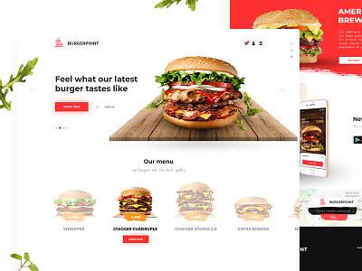 Burger Point Store burger desktop food store shop ecommerce ux ui intervi clean