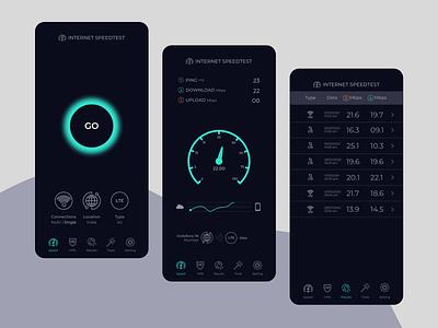 Internet Speed Test App UI Design app ui ui design speedometer speed test mobile app mobile app design internet speed speed test app app ui design app design ui ux app design app concept