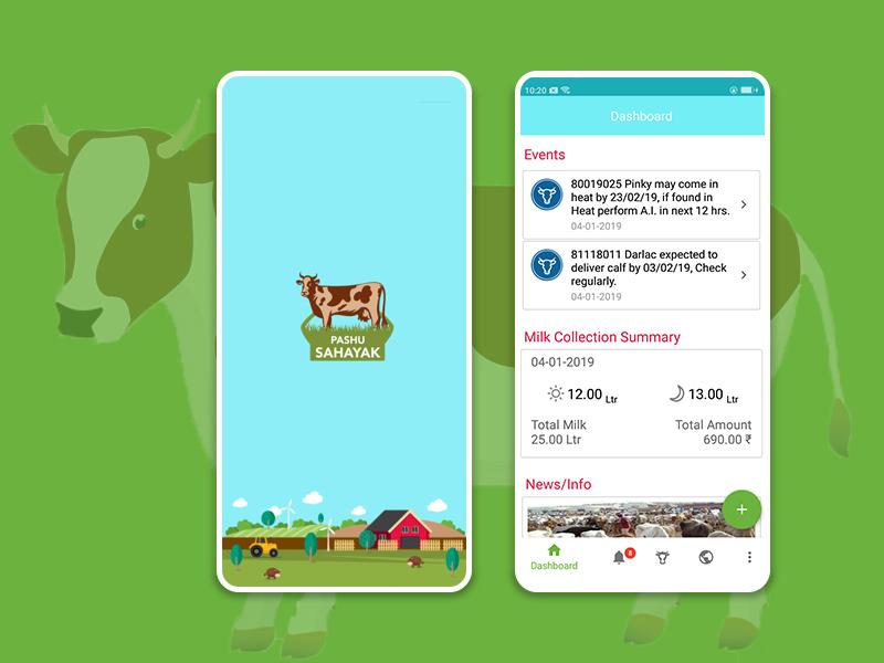 Pashusahayak App mobile ui design android app mobile app design