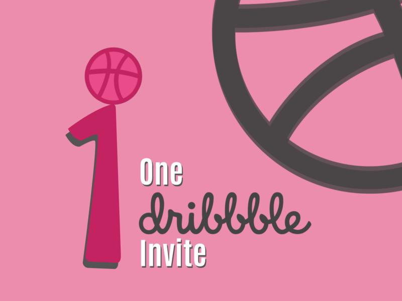 One Dribbble Invite giveaway invite dribbble invite giveaway invitation invite