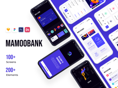 Mamoobank - Light mode & Dark mode transfer account sign in onboarding dark mode banking app bank card bank app finance business finance app wallet app banking ui clean ui booking app ui ux mobile app finance ui kit ui design