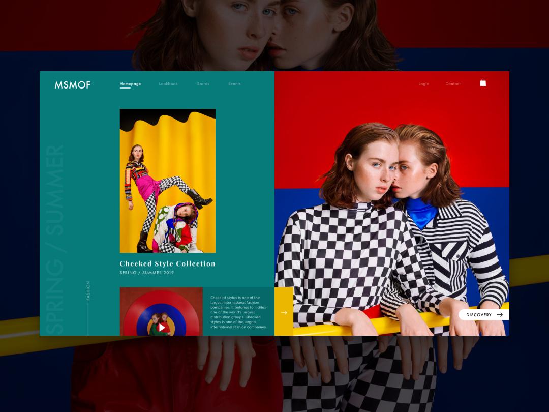 Daily web design - Fashion minimalism luxury design ui kit ui ux web development web app web  design fashion ui colorful fashion website fashion website design web design webdesign website user interface ui design ux ui
