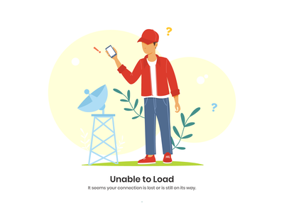 No loading connection trying signal loading phone man design illustration vector