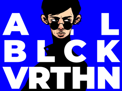 ALL BLACK EVERYTHING character illustration