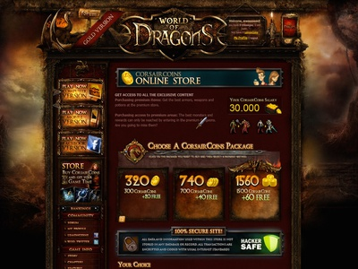 World of Dragons promo site