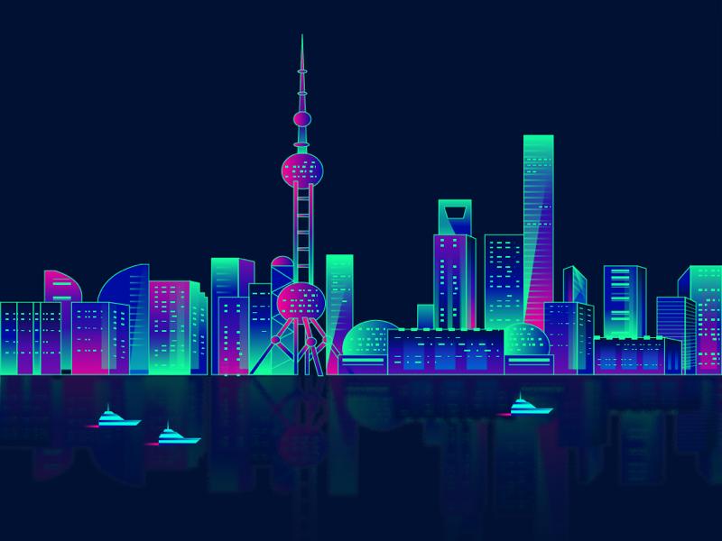 2.5D,城市创意海报, ai