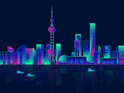2.5D,城市创意海报,