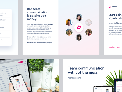 Numbro - Digital Brochure mockup mobile app press company branding illustration brand brochure design design product numbro