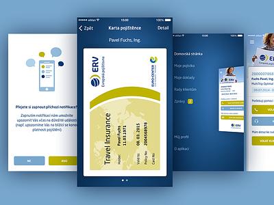 Travel Insurance App menu card insurance travel app ios
