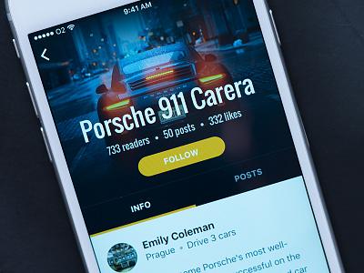 Social App Car Detail photo porsche detail app social ios iphone car