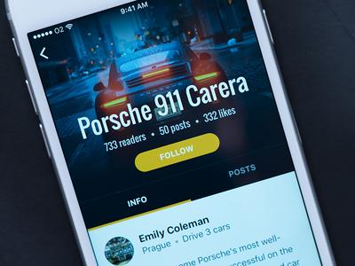 Social App Car Detail
