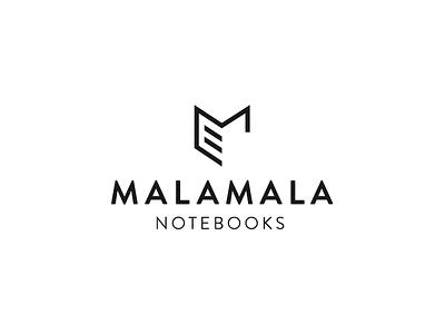 MALAMALA Logo typography notebook logo letter m