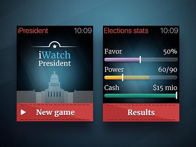 Apple Watch Game election trump president app ipresident game watch apple