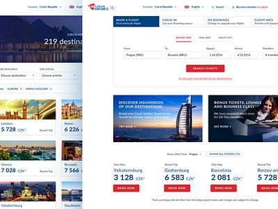 Airline Website destination czech travel website airline