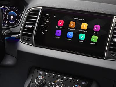 ŠKODA OneApp - CarMode automotive design car infotainment oneapp skoda