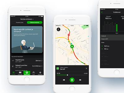 SKODA OneApp - iOS drive infotainment skoda car automotive