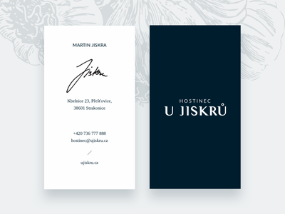 Hostinec U Jiskrů gastronomy identity restaurant cards business