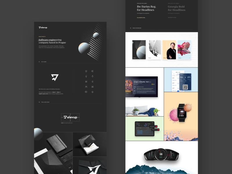 elevup Behance Case Study moodboard web logo brand and identity mark behance case study brand elevup
