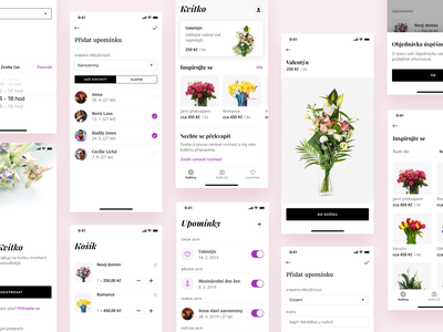 Flower Delivery App mobile light eshop bloom bouquet flower ux ui ios app