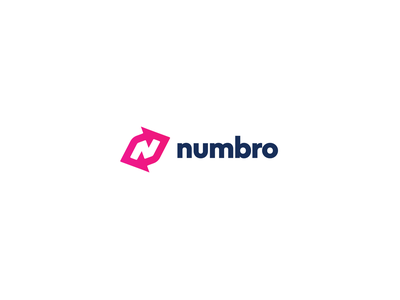 Numbro logo android ios management company crm contact software brand branding