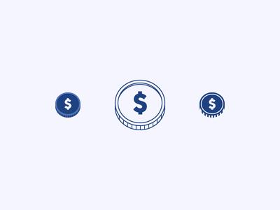 Coin Icon Pack vector money icon coin tutorial illustrator