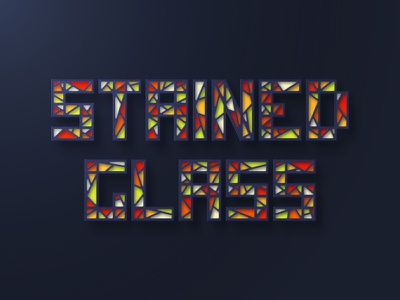 Stained Glass Text stained-glass vector text effect tutorial illustrator
