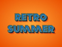 Warm Retro Text