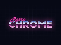 Retro Chrome Text