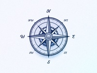 Wind Rose Compass Symbol Illustration