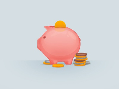 Piggy-Bank Illustration vector coin illustration bank piggy tutorial illustrator