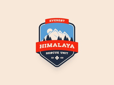 Mountain Rescue Unit Badge vector badge unit rescue mountain tutorial illustrator