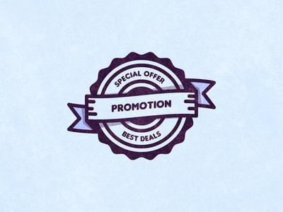 Promotion Vector Badge badge vector promotion tutorial illustrator