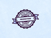 Promotion Vector Badge