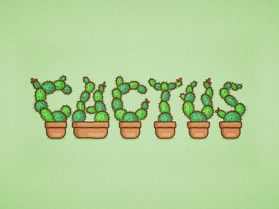 Cactus Text vector text cactus tutorial illustrator
