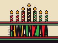 Kwanzaa Candle Text Effect