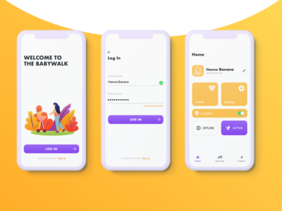 Babywalk- iOS concept app design