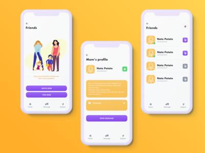 Babywalk concept app design