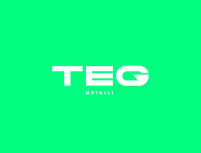 TEG Metalli - Logo redesign flat shape branding vector logotype identity fluo green color logodesign logo