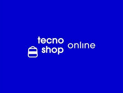 TecnoShop Online - Logo redesign colors white icon shape illustration flat illustrator cc graphic design vector