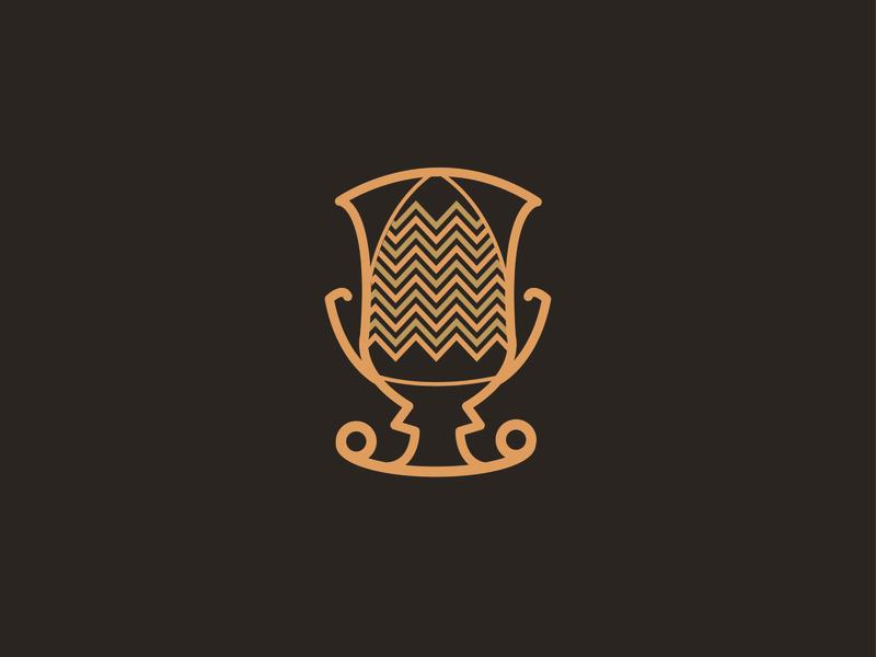 Vase of Assteas gold brown colors flat icon vector graphic design logo illustrator cc illustraion